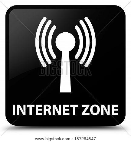 Internet Zone (wlan Network) Black Square Button