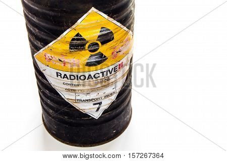 The Cylinder shape container of Radioactive material