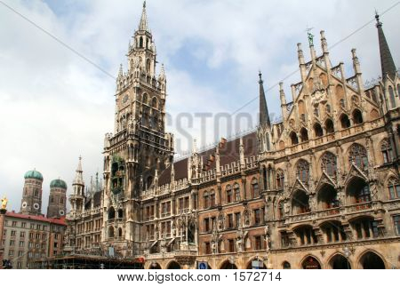 Marienplatz Town Hall Building