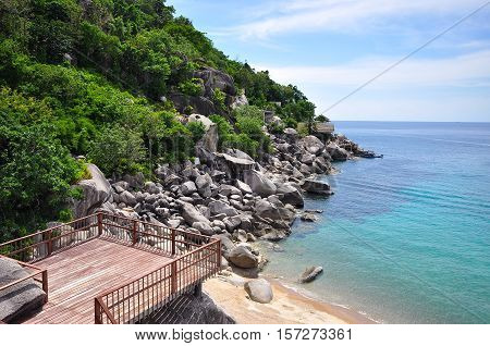 Mango Bay view point at Koh Tao tropical island