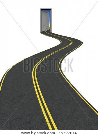 Road to another reality, world, success, opportunities and etc.