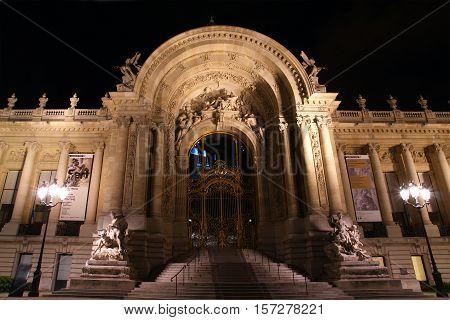 Paris - May 10: The Petit Palais At Dusk On May 10, 2012 In Paris, France.  The Petit Palais (small