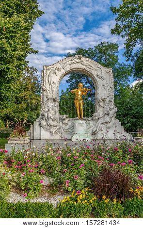 Johann Strauss Monument in Stadtpark Vienna Austria
