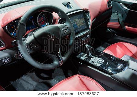 Maserati Granturismo Interior On Display