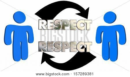 Respect People Arrows Mutual Shared Understanding 3d Illustration