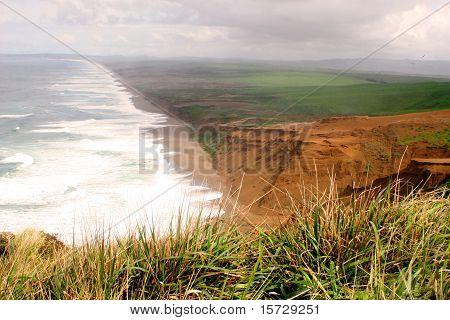 Western coastline on sunny day