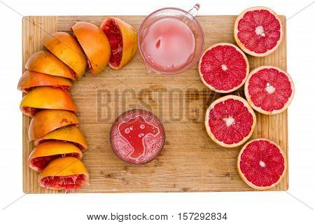Preparing Freshly Squeezed Ruby Grapefruit Juice