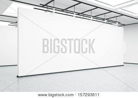 Empty Exhibition Hall Wall