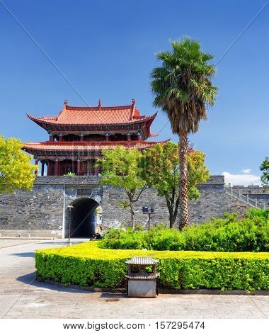 The West Gate To Dali Old Town, Yunnan Province, China