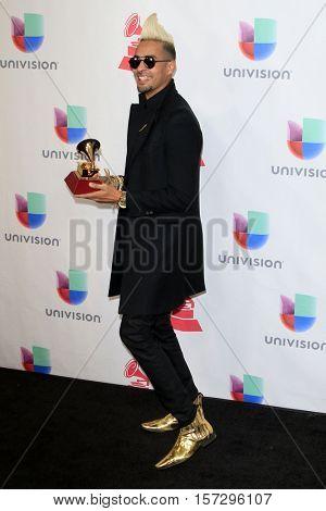 LAS VEGAS - NOV 17:  Motif at the 17th Annual Latin Grammy Awards Press Room at T-Mobile Arena on November 17, 2016 in Las Vegas, NV
