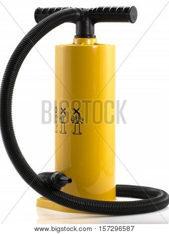 Manual air pump for inflating airbeds beach balls etc