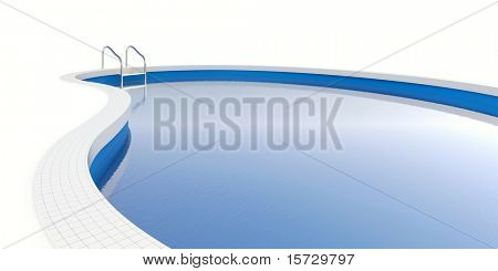 Pool isolated on white(with clipping path) Easy editable for you design