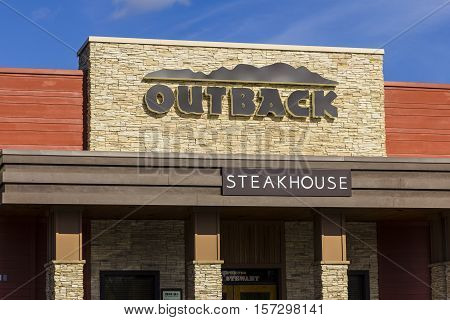 Indianapolis - Circa November 2016: Outback Steakhouse Restaurant Location. Outback offers an Australian themed experience IV
