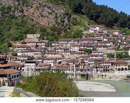 Breathtaking view of Berat, The City of Thousand Windows, Albania