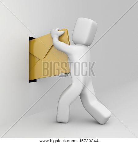 The person send mail