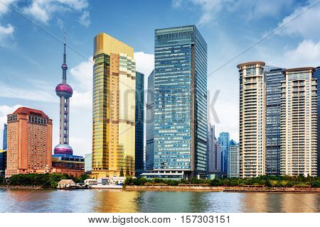 View Of Skyscrapers In Business Center Of Shanghai, China