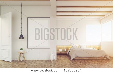 Bedroom With Sofa And Framed Poster, Toned