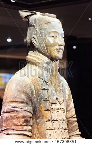 Closeup View Of Middle-ranking Officer Of The Terracotta Army