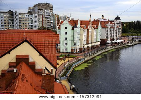KALININGRAD, RUSSIA - SEPTEMBER 23, 2016: View of a