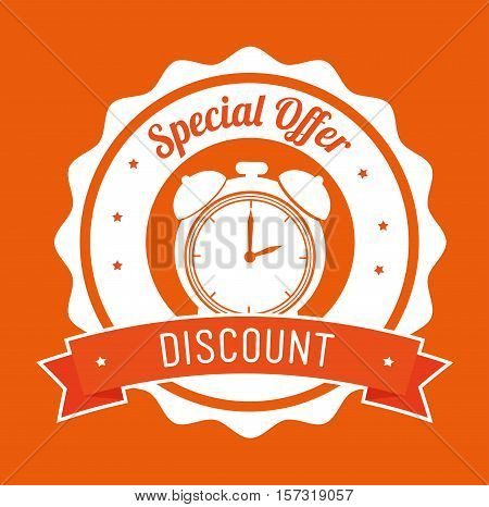 special offer discount orange stamp banner vector illustration eps 10