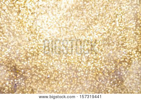Golden Sparkling Background With Copy Space