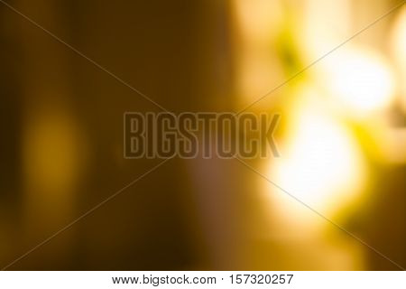 Golden Overlay Background Of Lights With Bokeh