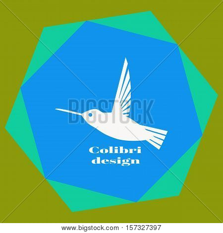 Colibri Logo. Hummingbird Logo Design Template. Vector Illustration For Your Company.