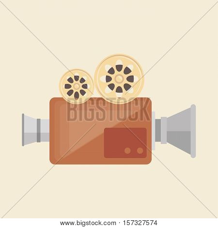 camera film vintage recorder movie vector illustration eps 10