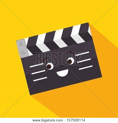 cartoon clapper movie film design vector illustration eps 10