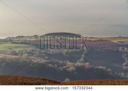 View from Hay Bluff. Near Hay on Wye Powys Wales United Kingdom.