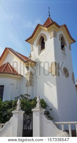 Colonial church in Lobito situated on the peninsula of this coastal town.