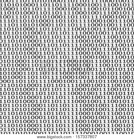 Abstract technology background with binary computer code