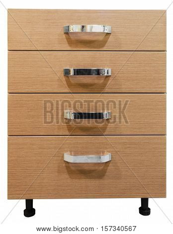 furniture module kitchen cupboard on a white background isolate