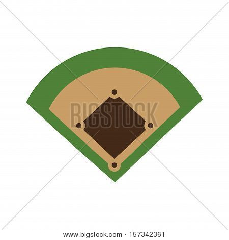 baseball field diamond form icon graphic vector illustration eps 10
