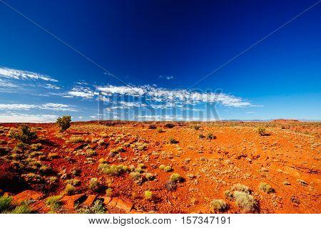 Landscape Near Chimney Rock, Capital Reef National Park, Utah, Usa