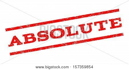 Absolute watermark stamp. Text caption between parallel lines with grunge design style. Rubber seal stamp with dirty texture. Vector red color ink imprint on a white background.