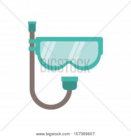 full color with mask of diving and snorkel vector illustration
