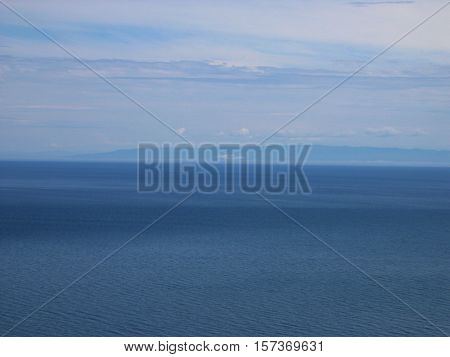 Baikal lake, Russia. Open spaces. View from the mountain. Lake Baikal is the deepest lake in the World.