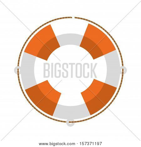 full color with Flotation hoop vector illustration