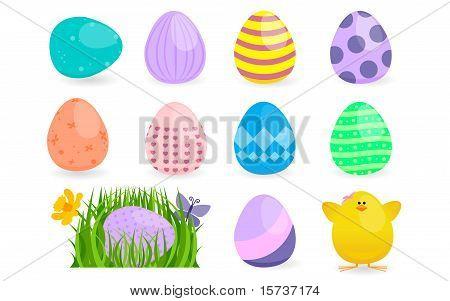 Spring Easter Egg Hunt Design Element Collection