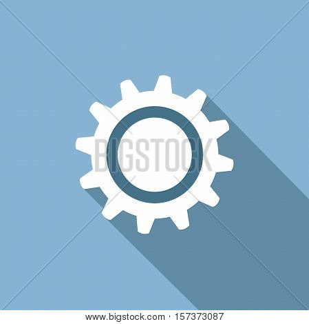 abstract gear. Vector in blue flat design