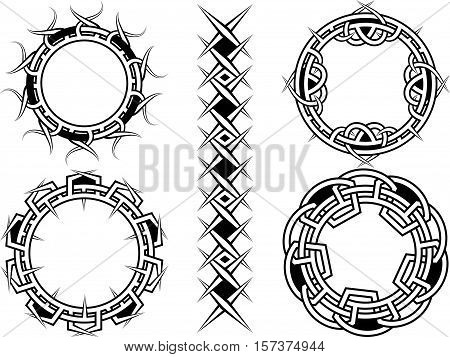 Ornament frame and borders in celtic style - a vector