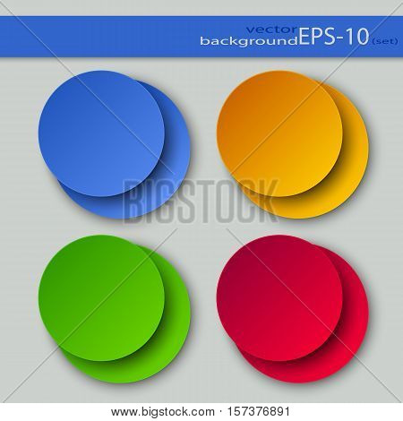Set of Round Color Backgrounds on a Light Background.