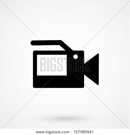 Video Camera Icon Vector Simple Design On A White Background. Vector Illustration