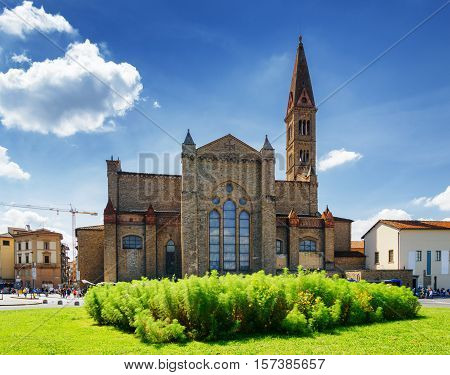 The Basilica Of Santa Maria Novella In Florence, Tuscany, Italy