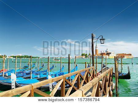 A Pier Beside The Riva Degli Schiavoni In Venice, Italy