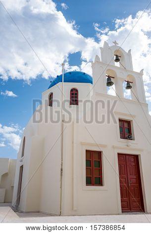 Greece Santorini island Oia the small Orthodox church of the village