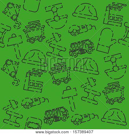 Metallurgy set pattern. Metallurgy Industry. Vector illustration EPS 10