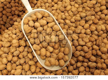 Walnuts For Sale In The Organic Grocery Store