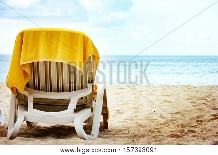 Vacation Concept With Chaise Longue